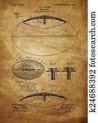 Football Patent Drawing From 1903