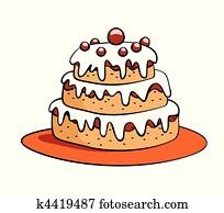 Kuchen Clipart Lizenzfrei 117 471 Kuchen Clip Art Vektor Eps
