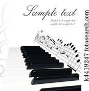 klavier, hintergrund