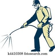 Pest control exterminator worker s