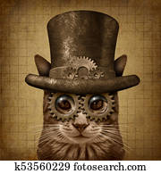 Steampunk Grunge Cat