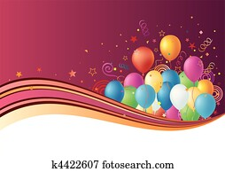 balloons, celebration background