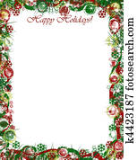 Christmas Border Happy Holidays