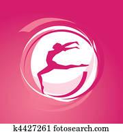 Girl gymnastics vector