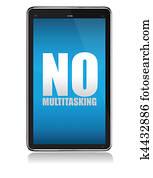 Apple iPad tablet no multitasking