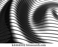 Aluminum abstract wave stripe pattern