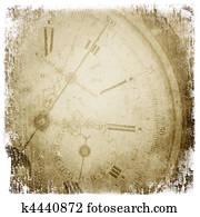 Antique pocket clock face.