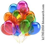 Balloons party birthday balloon