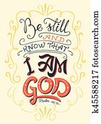 Be still and know that I am God bible quote