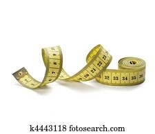 mesure, bande, tailleur, alimentation, fitness, longueur, poids