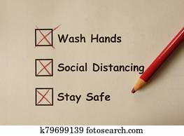 Wash Hands , Social Distancing , Stay Safe -- Corona Virus prevention