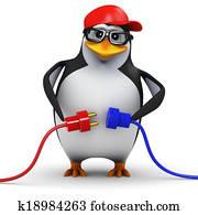 3d Penguin makes a connection