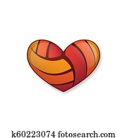 Volleyball Heart - Free Transparent PNG Clipart Images Download