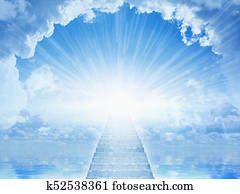 Light from heaven, staircase to heaven