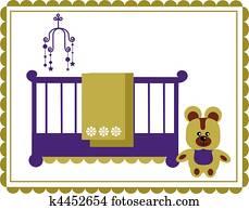 Kinderbett Clip Art Vektor Grafiken 4 218 Kinderbett Eps Clipart