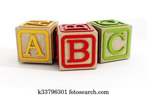 Toy blocks isolated on white