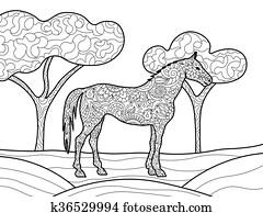 ausmalbilder trojanisches pferd - kostenlos zum ausdrucken