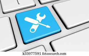 Computer Service Work Tool Icon