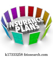 Insurance Plans Many Options Health Care Choices Doors