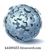 Jigsaw puzzle dynamic Explosion