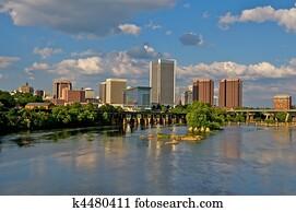 Richmond, Virginia Cityscape.