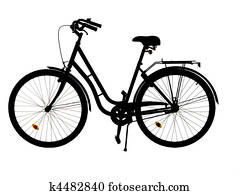 Silhouette of a bike
