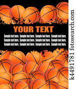 Basketball balls illustration.