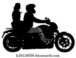 Couple on moto