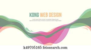 Header website abstract design colorful style
