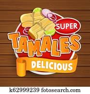 Tamales delicious logo, symbol, sticker.