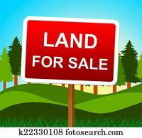 Land For Sale Means Real Estate Agent And House
