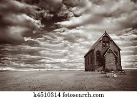 Abandoned Desert Church