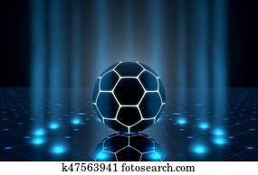 Ball On Spotlit Stage
