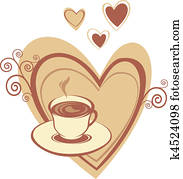 Coffee cup with heart