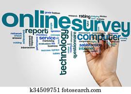 Online survey word cloud