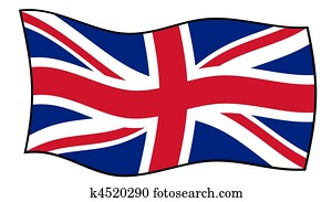 Union Jack flag in wind