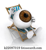 the big eye lying on beach chair