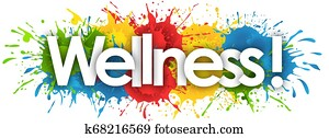 wellness word in splash?s background