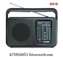 radio black vector