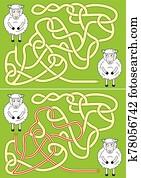 Sheep maze