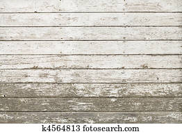 Old rustic white plank barn wall