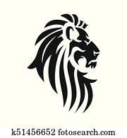Vector lion head image