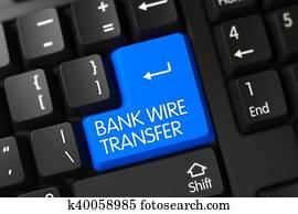 Key Bank Wire Transfer | Clipart Of Blue Bank Wire Transfer Keypad On Keyboard K37204611