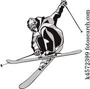 Dessin Skieur Humoristique skieur clipart libre de droits. 22 028 skieur la recherche de clip