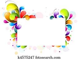 Rainbow Swirl Frame