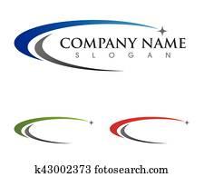 c, brief, logo, schablone