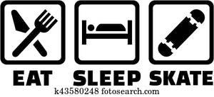 Eat sleep skate skateboard