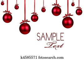 Red Christmas Holiday Ornament Background