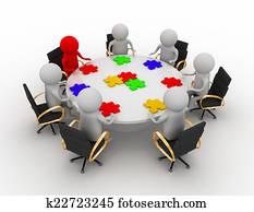 teamwork in a business meeting