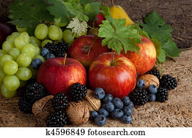 Autumn fruits for thanksgiving
